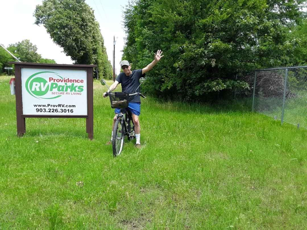 Bike at Providence RV Park