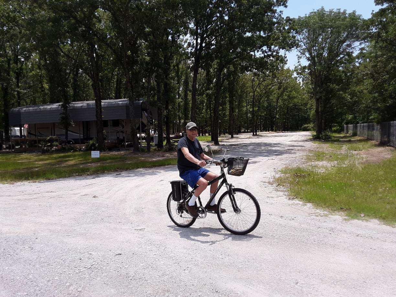 Biking to town